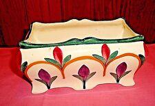 Vtg Black Forest Germany Art Pottery Planter Erphila Rich Colors Art Deco