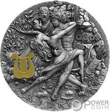 APOLLO Gott der Sonne Gods 2 Oz Silber Münze 2$ Niue 2020