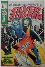 Silver Surfer #5 (Apr 1969, Marvel), VFN-NM condition, Stranger app, FF app.