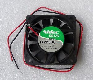 """Nidec Beta V 60mm x 15mm Fan 5V DC Bare 12"""" Leads R34487-16PBT Made in Japan"""