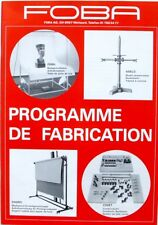 Catalogue - Document commercial FOBA - Programme de Fabrication - Trépieds