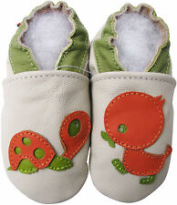 carozoo turtle duck cream 0-6m soft sole leather infant baby shoes