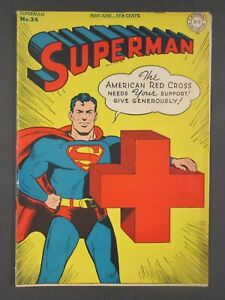 Superman #34 1945 DC Comics Golden Age
