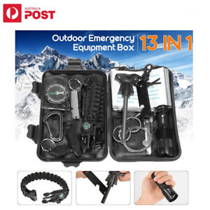 13 in 1 Outdoor Emergency Survival Equipment Kit Sports Tactical Hiking Camping
