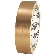 Tape Planet Brushed Gold 1 inch x 10  yards Metalized Polyester Tape