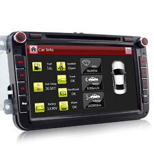 "A-Sure Car Stereo Radio 8"" HD DVD Player GPS Sat Nav VW PASSAT/SKODA Fabia/SEAT"