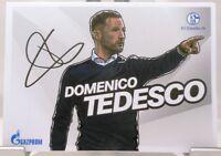 Domenico Tedesco + Autogrammkarte 2017/2018 + FC Schalke 04 + AK201861 +