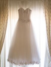 Princess White Wedding Dress UK 10 + Underskirt • Excl Condition