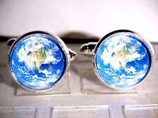 Herren Manschettenknöpfe Cufflinks Legierung Rund Astronomie Horoskop Globus