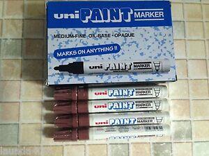 Uni Paint Marker PX-20 medium bullet tip Brown x 12 pcs