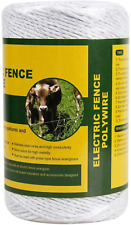 Portable Electric Fence Polywire 656 Feet 200 Meter 6 Conductors White Color