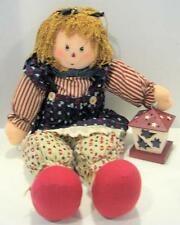 """Nos Avon Gift Collection """"Heartwarming Country Sitters"""" Doll Girl Americana"""