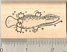Funny Duck Billed Platypus rubber stamp G11513 WM