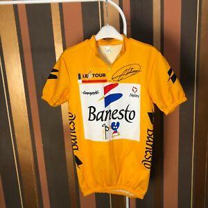 Vintage Tour De France Nalini Banesto Cycling Jersey Campagnolo size 3 - S, VLD