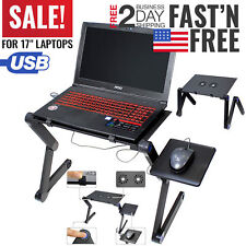 Laptop Stand Table Lap Desk Tray Portable Adjustable For Bed Computer Fan Holder