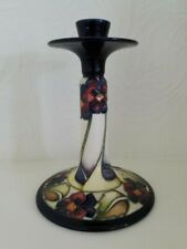 Moorcroft - Eventide The Dames Pansy Candlestick