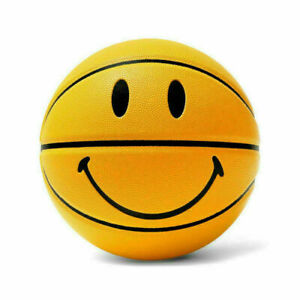 Nice Smiley Basketball With Smiling face For School Training Sports Game Yellow