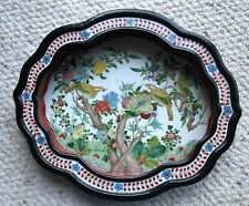 Large China Chinese Qing Dynasty Famille Rose Porcelain Plate w/ Flowers & Birds