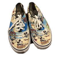 Vans Disney Mickey Minnie Mouse Aloha Hawaiian Sneakers Womans 9