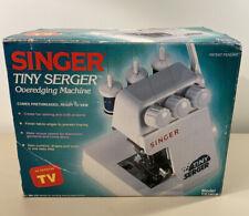 SINGER TINY SERGER ~ TS380A ~ Overedging Machine ~ Original Box, Manual, Extras