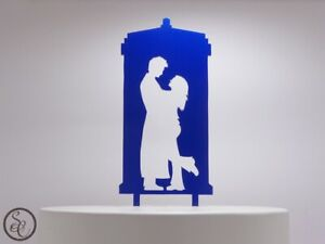 Dr Who 10th Doctor & Rose Tyler with Tardis Cake Topper Wedding Topper