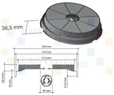 Faber Turboair Elica Newair Filtro Cappa a Carbone Attivo Diametro 19-H.3,65 cm.