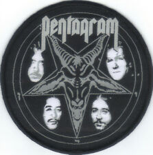 PENTAGRAM-BAPHOMET LOGO ROUND WOVEN PATCH-OFFICIAL-SUPER RARE