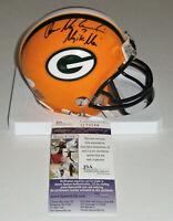 PACKERS Don Majkowski signed mini helmet w/ Majik Man JSA COA AUTO Autographed