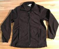 COLUMBIA SPORTSWEAR Youth 10/12 Charcoal Gray Fleece Zip Front Jacket Boys