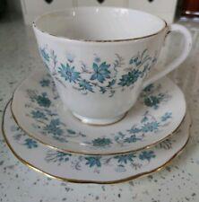 Vintage Colclough Braganza Tea Trio Cup Saucer Side Plate Bone China