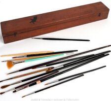 Antique Mahogany Artist BRUSH BOX Watercolour Long Medical Scientific Instrument