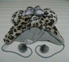 Disney Parks Animals Print Minnie Ears Hat Tassels Silver Bow
