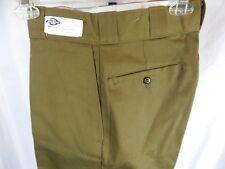 Nos Vintage Dickies Khaki Olive Brown Work Pants Slacks Retro Trousers Retro 28