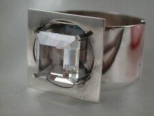 Kaunis Koru Mirjam Salminen Finnland Armreif aus Sterlingsilber mit Bergkristall