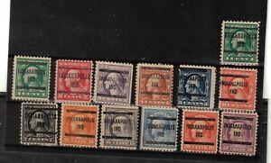 JimbosStamps, U.S.precancels,1917 Wash. Frank. issues , INDIANAPOLIS, IND
