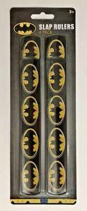 Batman Bat Logo DC SLAP RULERS Bracelets  Party Favor 4-pack.