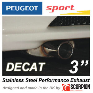 """PEUGEOT SPORT GROUP N EXHAUST PEUGEOT 106 GTI RALLYE XSI  3"""" ROLLED OUT TAILPIPE"""