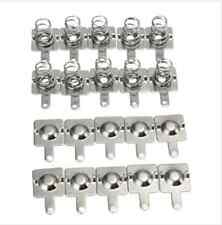 10 Pairs Silver Tone Metal Battery Spring Plate Set for AA AAA Batteries