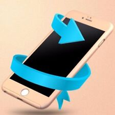 Gold 360° FUll Hard Acrylic Case Cover+Temper Glass Film Bag for iPhone 5