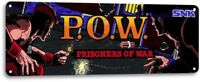 P.O.W. Classic Fighting Arcade Marquee Game Room Wall Art Decor Metal Tin Sign