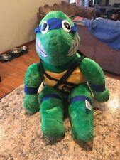 """TMNT Teenage Mutant Ninja Turtles Leonardo Ace Plush 20"""" Playmates 1989"""