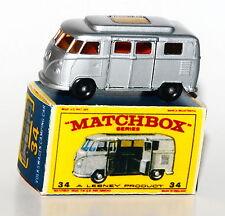 Matchbox Serie 1-75 No. 34 - VW Camper - Topzustand mit Reprobox