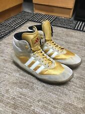 Adidas Absolute Wrestling Shoes, Size 10, Gold and White, Rare, Nike, Asic,