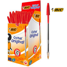 Bic Cristal Ball Pen Medium1.0mm Red Pack of 50Ballpoint Pens &Writing Equipment