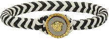 Brand New In Box $700 Versace Black & White Medusa Rochetto Bracelet (Large)