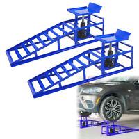 2x PKW Auffahrrampe Autorampe Hebebühne Wagenheber höhenverstellbar Rampe Bis 2T