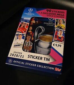Topps Champions League 2020/2021 Sticker Tin (90 Sticker + 1 Jumbo Sticker)