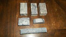 Assorted Printing Press Letter Press Blocks Lot