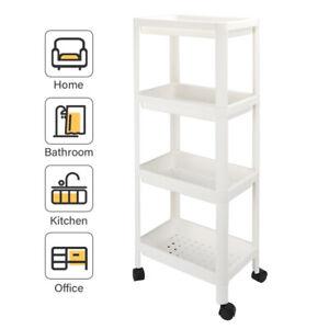 4 Tier Shower Kitchen Rack Caddy Bathroom Rolling Organizer Storage Cart