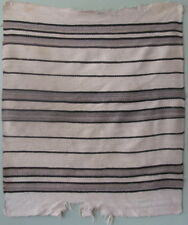 Antique Navajo rug Diyugi work wearing blanket 19thC stripes wool 37x44in #3965